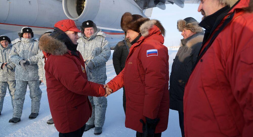 Prezydent Władimir Putin na Ziemi Franciszka Józefa