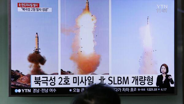 Reportaż o probie północnokoreańskiej rakiety balistycznej - Sputnik Polska