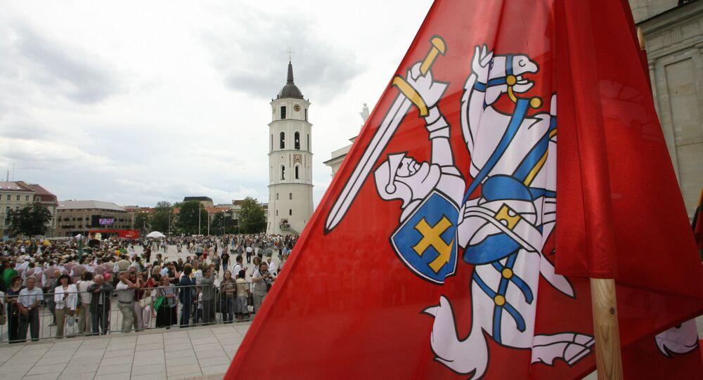 Centrum Wilna. Zdjęcie archiwalne