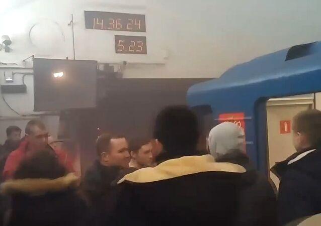 Pierwsze kadry z miejsca wybuchu w petersburskim metrze