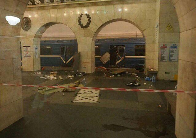 Wybuch w petersburskim metrze