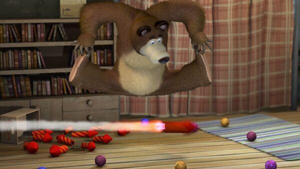 Kadr filmu animowanego Masza i Niedźwiedź - Sputnik Polska