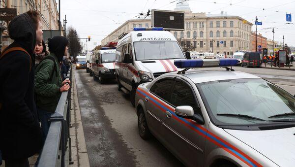 Stacja metra Tiechnologiczeskij Institut w Petersburgu, gdzie doszło do wybuchu - Sputnik Polska