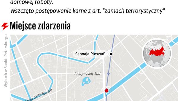 Atak terrorystyczny w metrze w Sankt-Petersburgu - Sputnik Polska