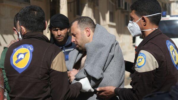 Ofiara ataku z użyciem broni chemicznej w prowincji Idlib w Syrii - Sputnik Polska