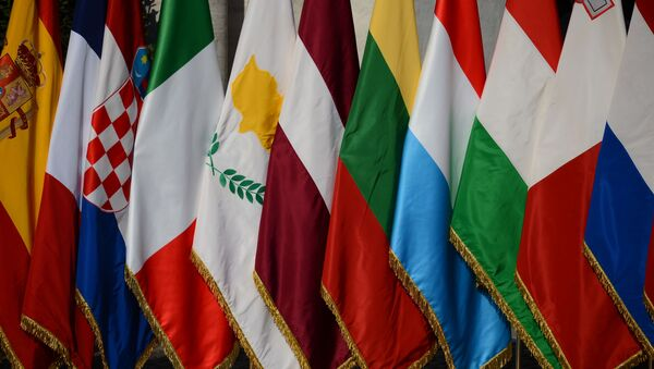 Flagi 27 państw członkowskich UE - Sputnik Polska