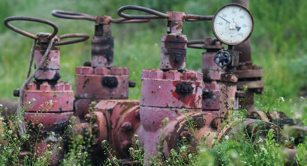 Złoże gazy łupkowego. Zdjęcie archiwalne