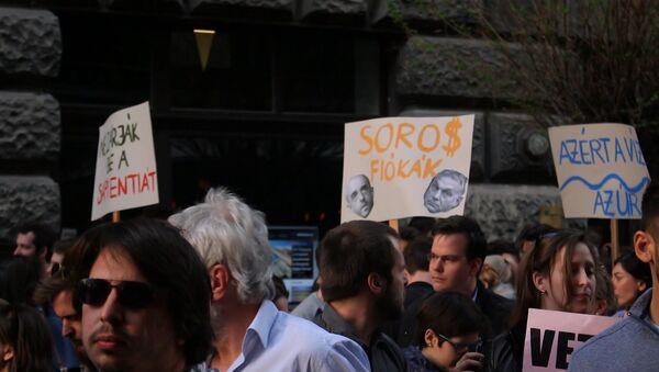 Węgrzy protestują przeciwko pracy Parlamentu - Sputnik Polska