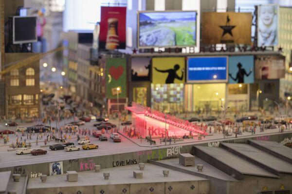 Makieta placu Times Square w Nowym Jorku. - Sputnik Polska