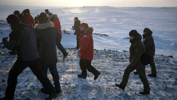 Wizyta prezydenta Rosji Władimira Putina w Arktyce, Ziemia Aleksandry - Sputnik Polska