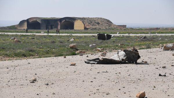 Skutki ataku rakietowego USA w Syrii - Sputnik Polska