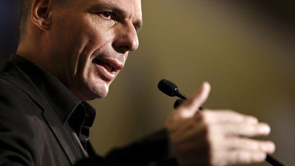 Minister Finansów Grecji Yanis Varoufakis - Sputnik Polska