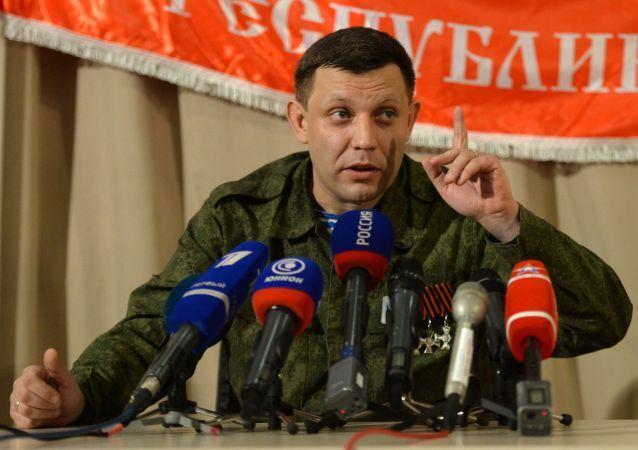 Przywódca Donieckiej Republiki Ludowej Aleksander Zacharczenko