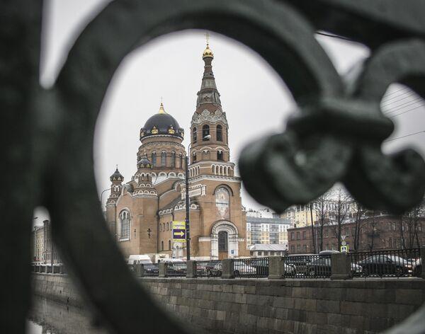 Cerkiew Zmartwychwstania Pańskiego w Petersburgu znajdująca się w okolicach obecnie nieczynnego Dworca Warszawskiego. - Sputnik Polska