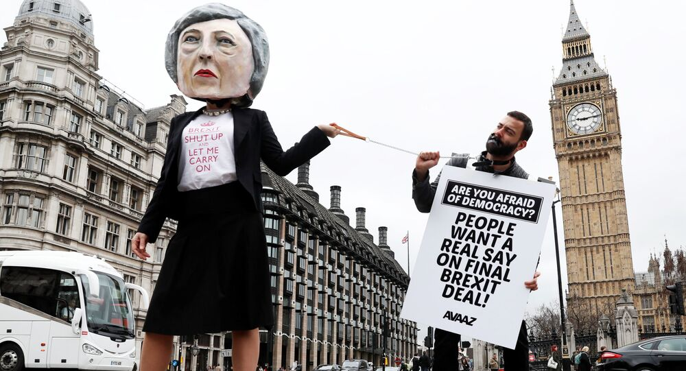Akcja protestu przeciwko Brexit w Londynie