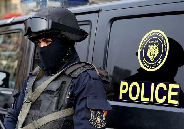 Policjanci w Kairze