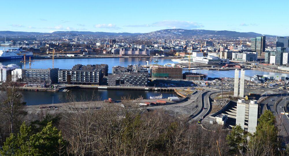 Widok na miasto Oslo, Norwegia