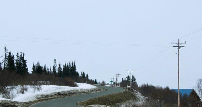 Droga w Kachemak Selo, Alaska