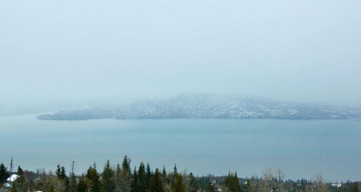 Widok na zatokę w Kachemak Selo, Alaska