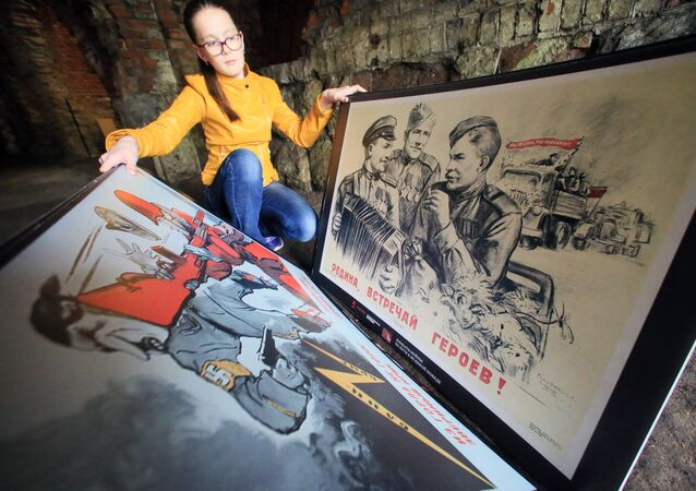 Wystawa Plakaty wojny. W drodze do Wielkiego Zwycięstwa w Kaliningradzie