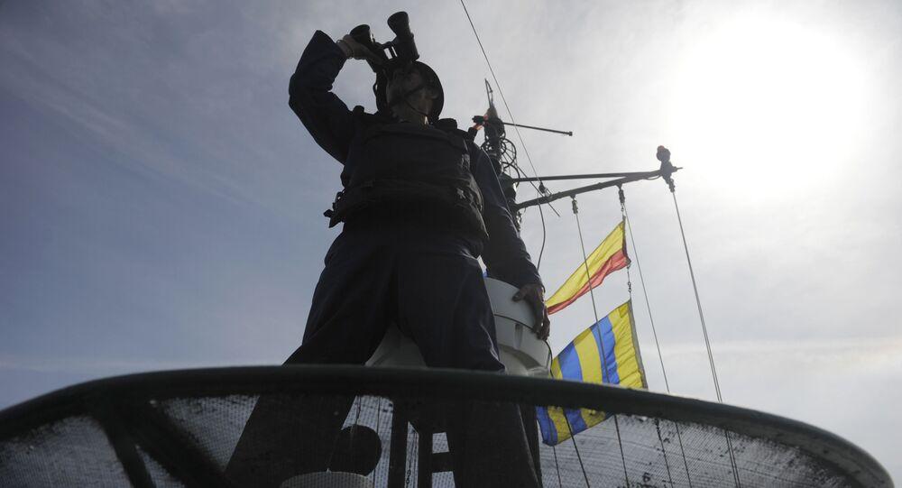 Marynarz podczas ćwiczeń