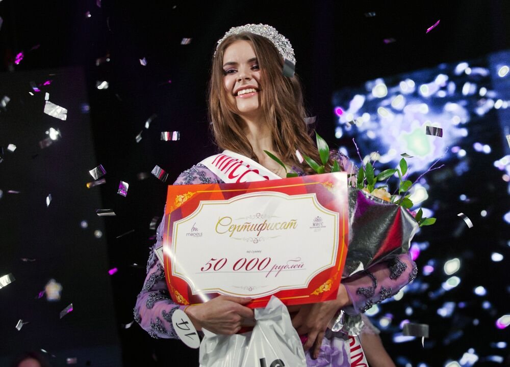 """Zwyciężczyni konkursu """"Miss Republiki Krymu 2017"""" Anastasija Boczkowa."""