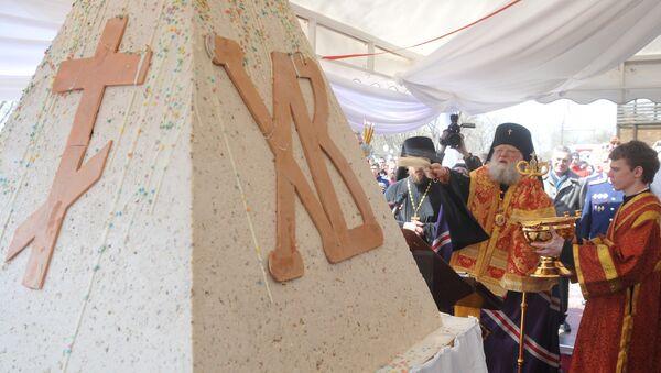 Rekordowa pascha o wadze 485 kg przygotowana przez rostowskich cukierników - Sputnik Polska
