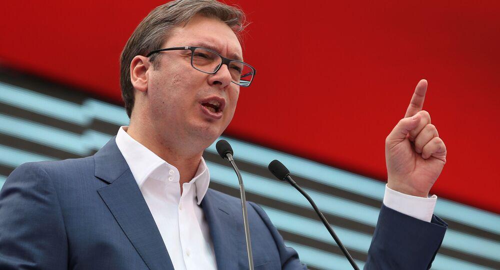 Premier Serbii Aleksandar Vučić, 18 marca 2017 roku