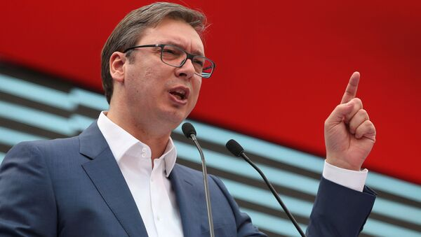 Premier Serbii Aleksandar Vučić, 18 marca 2017 roku - Sputnik Polska