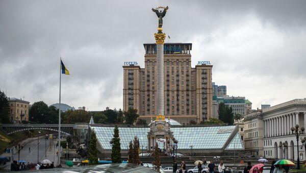 Kolumna niezależności Ukrainy na Placu Niepodległości w Kijowie - Sputnik Polska