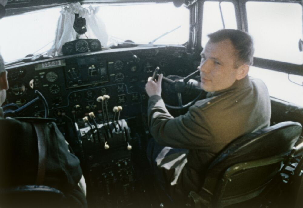 Jurij Gagarin przed lotem