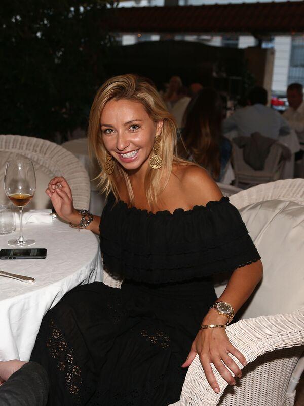 Prezenterka telewizyjna Tatjana Nawka podczas obchodów dnia szaszłyka w restauracji Bistrot w Moskwie. - Sputnik Polska