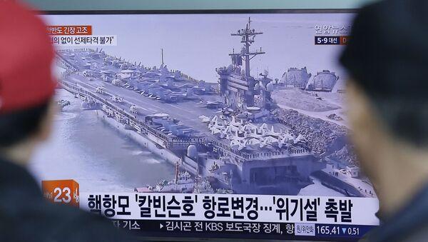 Amerykański lotniskowiec USS Carl Vinson - Sputnik Polska