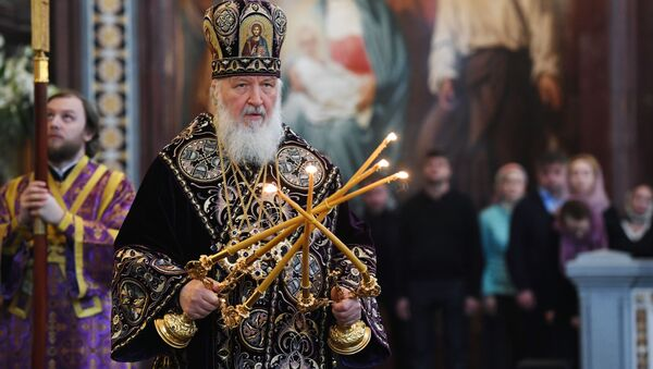 Nabożeństwo wielkanocne w Soborze Chrystusa Zbawiciela - Sputnik Polska