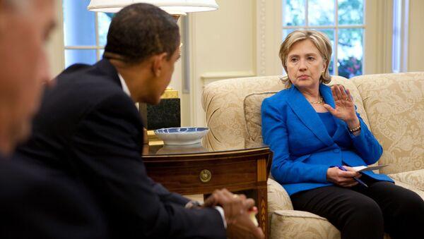 Hillary Clinton i Barack Obama - Sputnik Polska