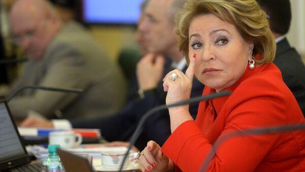 Председатель Совета Федерации РФ Валентина Матвиенко - Sputnik Polska