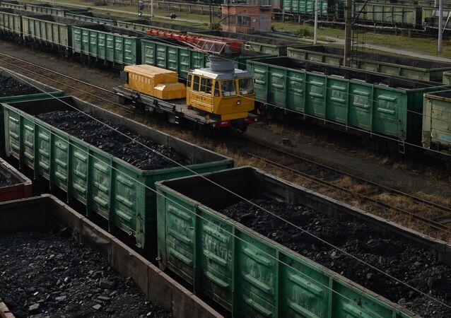 Wagony z węglem w obwodzie swierdłowskim