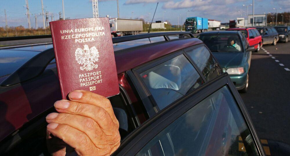 Przejście graniczne Mamonowo 2 na granicy z Polską.