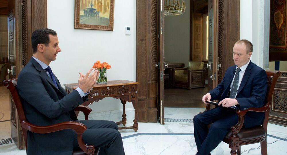 Asad w wywiadzie na wyłączność dla Sputnika
