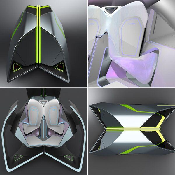Изображение финального проекта интерьера, созданного в рамках конкурса Lada 2050 — видение мобильности будущего - Sputnik Polska
