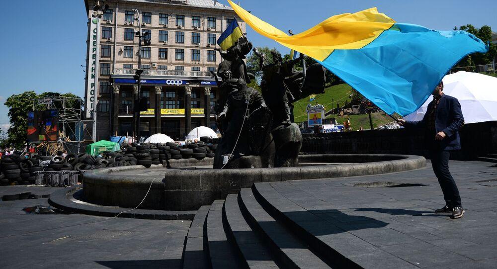 Pod ambasadą USA w Kijowie odbywa się pikieta przeciwko wojnie