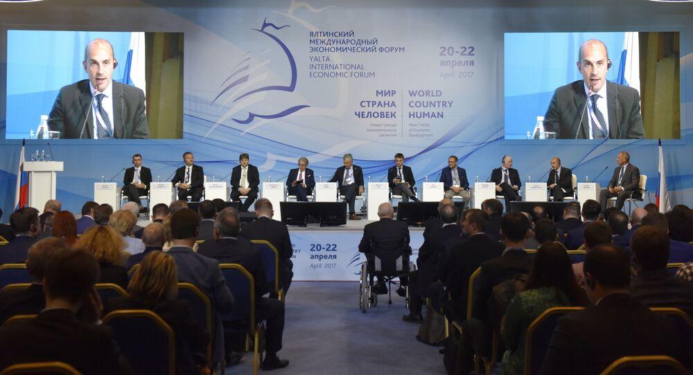 Jałtańskie Międzynarodowe Forum Ekonomiczne na Krymie. Pierwszy dzień