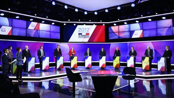 Przedwyborcza debata we Francji - Sputnik Polska