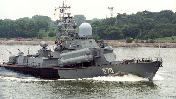 """Mały okręt rakietowy """"Liwień"""". Zdjęcie archiwalne - Sputnik Polska"""