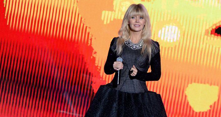 Rosyjska piosenkarka Waleria na koncercie w Groznym