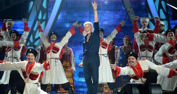 Piosenkarz Oleg Gazmanow na koncercie w Soczi