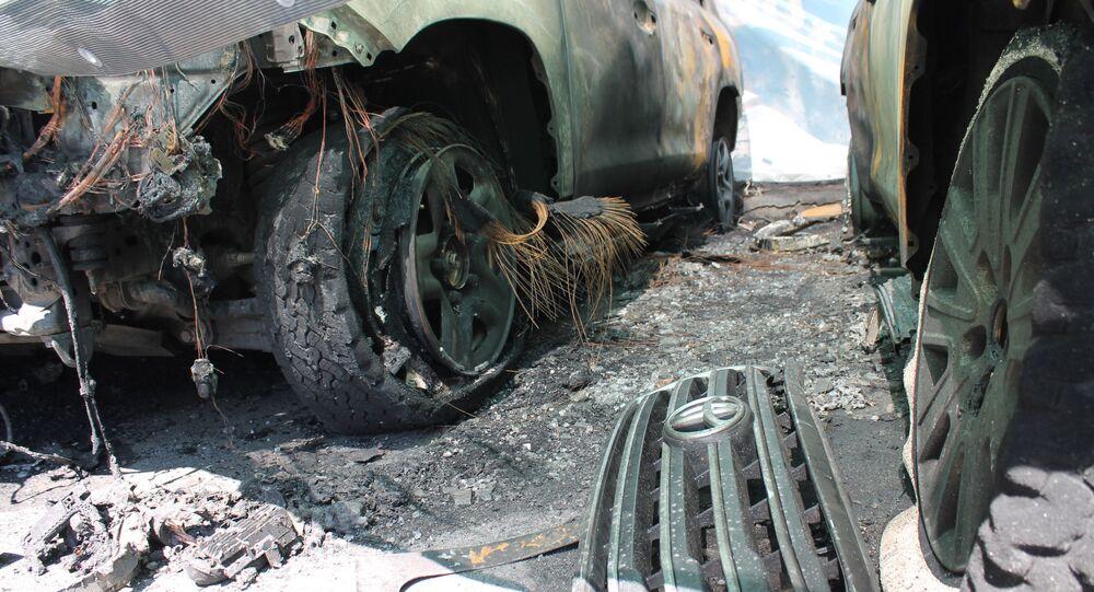 Spalony samochód OBWE