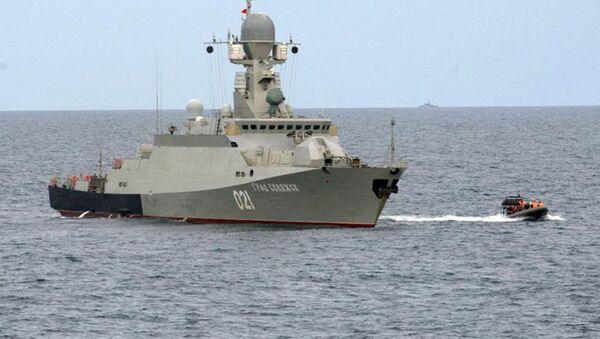 """Mały okręt rakietowy """"Grad Swijażsk - Sputnik Polska"""