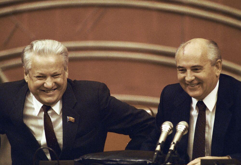 Borys Jelcyn i Michaił Gorbaczow