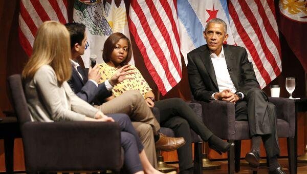 Były prezydent USA Barack Obama na Uniwersytecie Chicagowskim - Sputnik Polska